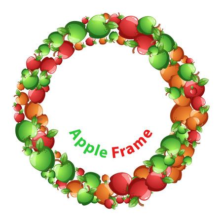 Apple varieties formed in circle,