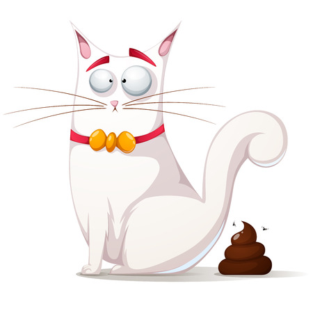 Funny, cute cat illustration Vector 向量圖像
