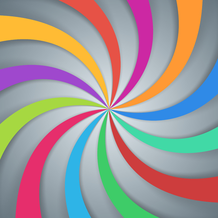twirl color paper background. Vector
