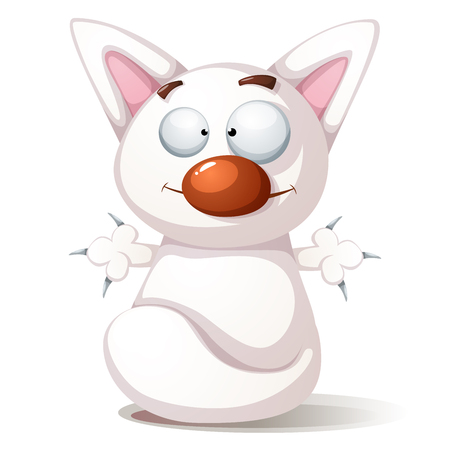 Funny, cute cat - illustration Vector eps 10