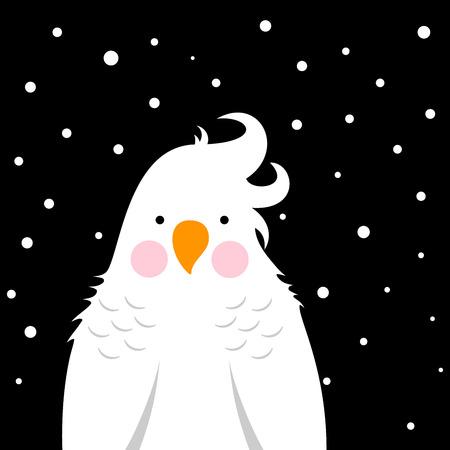 Funny, cute cartoon parrot Vector eps 10