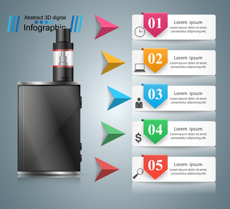 Viper, smoke business infographics Vector.