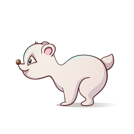 Cute, funny polar bear illustration. Vector eps 10