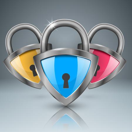 Key, lock icon Business infographic. Illustration