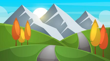 Cartoon landscape  illustration