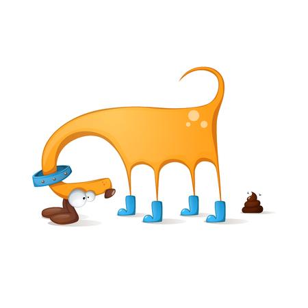 Funny cute dog cartoon.
