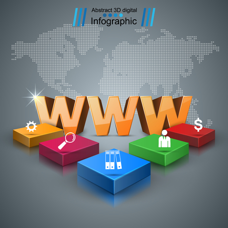Web, internet - business infographic.