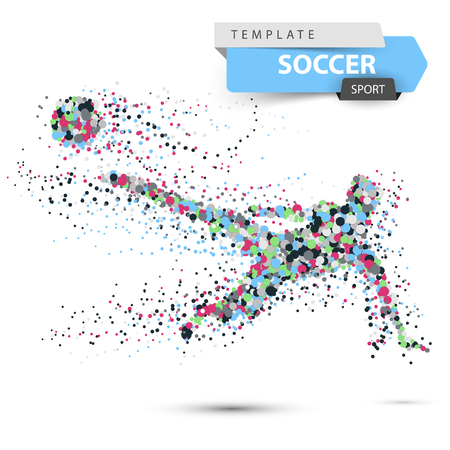Soccer, football - dot illustration with glare.