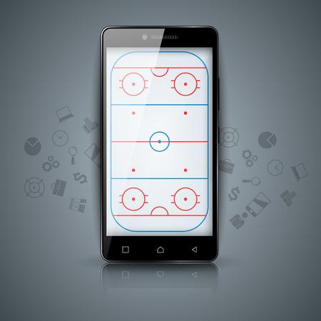 Hockey court. Sport temlate sport.
