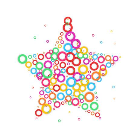 Star dot icon. Color dot.