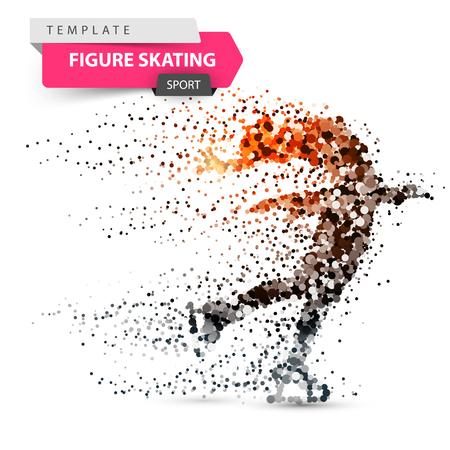 Figure skating - dot illustration. Sport template. Vector eps 10 Illustration