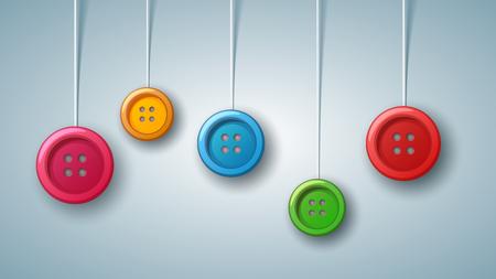 Sewing batton - color set. Vector eps 10 Illusztráció