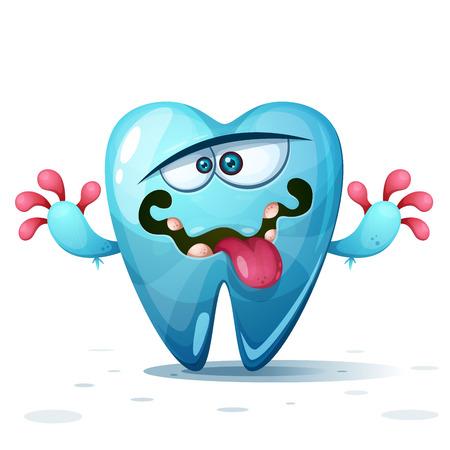 Funny, cute, crazy tooth characters Vector eps 10 Vektorgrafik