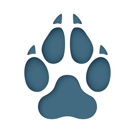 Animal footprint cut from paper. Vector eps 10 Standard-Bild - 106614474