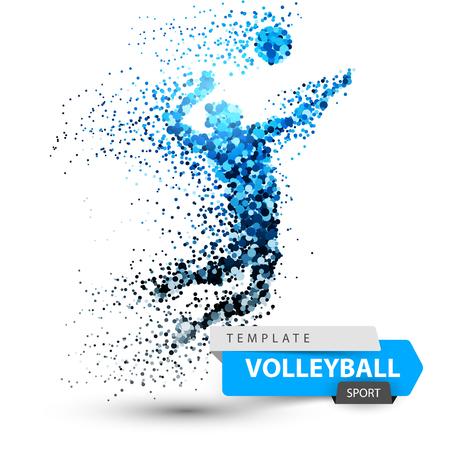 Volleyballpunktillustration auf dem weißen Hintergrund.