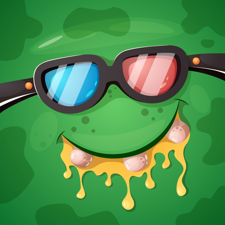 Cartoon funny, cute monster cinema character. Halloween illustration. Vector eps 10 Standard-Bild - 110237390