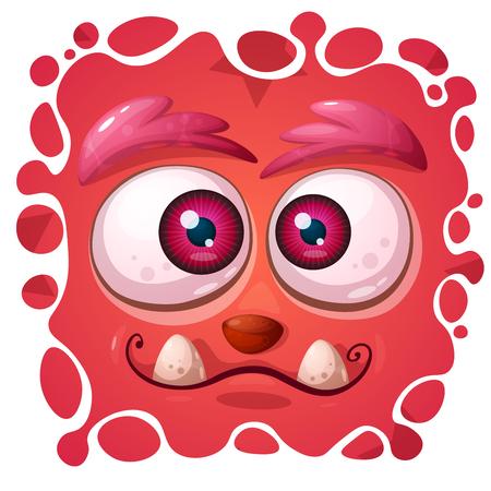 Personaje de dibujos animados divertido, lindo monstruo. Ilustración de Halloween. Vector eps 10 Ilustración de vector