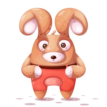 Crazy rabbit with big eye. Vector eps 10