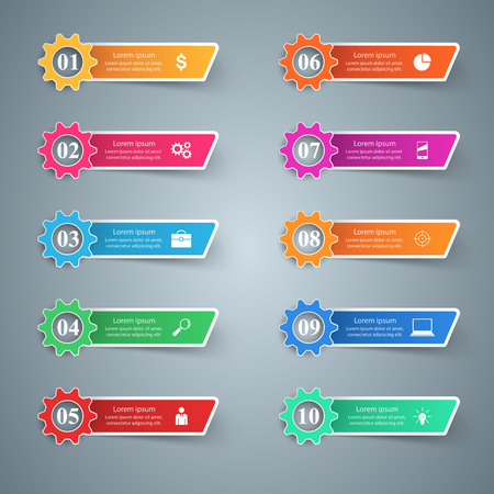 Business Infographics origami style Vector illustration. Gear icon. Illustration