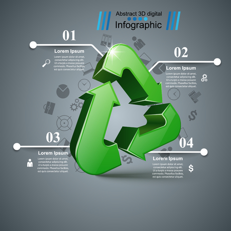 Recycle business infographic. Four items. Banque d'images - 114933728