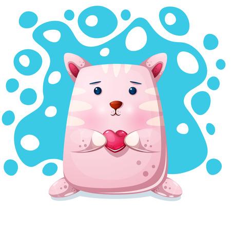 Cat, kitty character. Love illustration Vector eps 10