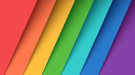 Set seven color paper. Rainbow. Vector eps 10