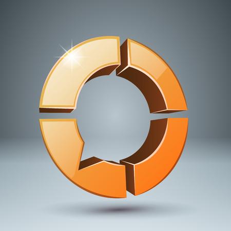 Bubbles speech - 3d icon. Four items. Vector eps 10 Ilustração