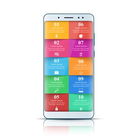 Digital gadget, smartphone icon. Business infographic Vector eps 10 Illustration