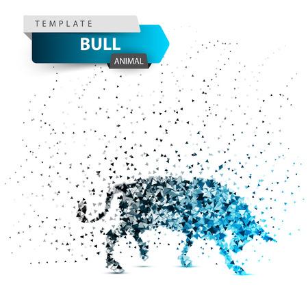 Bull dott illustration. Splatter, glare ice Vector eps 10