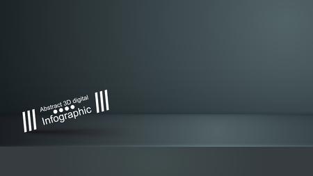 Template empty dark studio, photostudio, room Vector eps 10