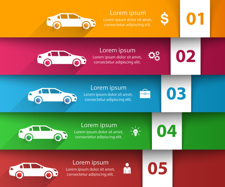 Road infographic design template and marketing icons. Car icon. Vector eps 10.