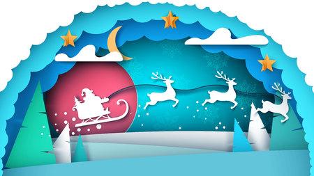 Santa Claus illustration. Merry Christmas. Vector eps 10 Illustration