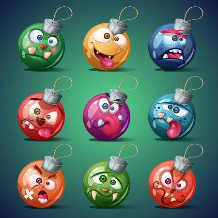 Christmas ball. Happy new year. Vector eps 10