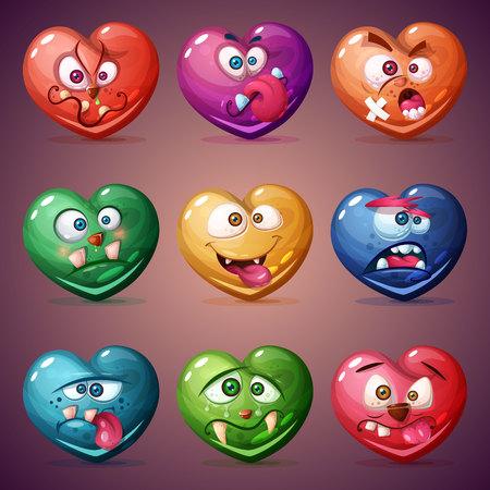 Set valentine heart. Love illustration. Vector eps 10  イラスト・ベクター素材