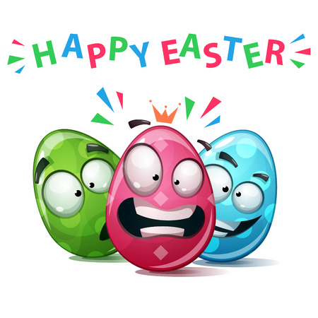 Happy easter, Set color egg. Vector eps 10
