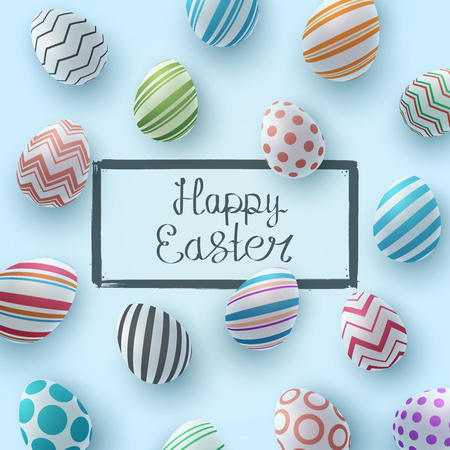 Happy easter. Realistic egg template. Vector eps 10 写真素材 - 124996543