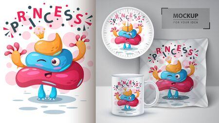 Boo turd - mockup for your idea. Ilustração
