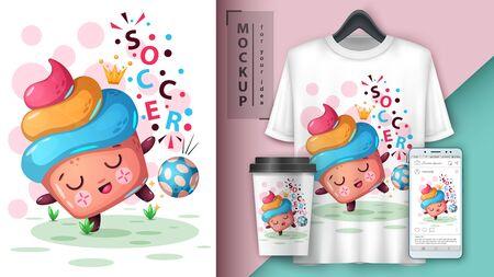 Soccer, footbal - mockup for your idea. Vector eps 10 Illustration