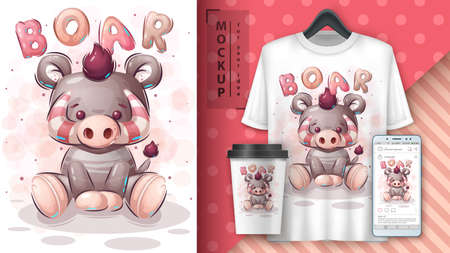 Teddy boar - poster and merchandising.