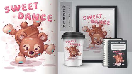 Bear dance - poster and merchandising.