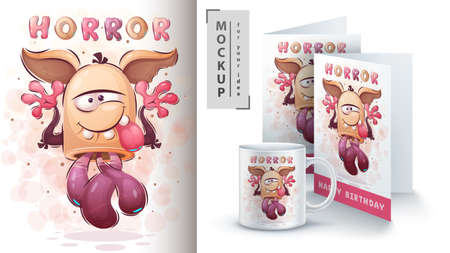 Cute monster - poster and merchandising.