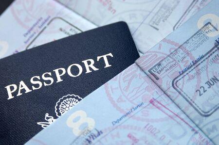pasaporte: Pasaportes Foto de archivo