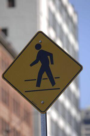 pedestrian sign: Accedi pedonale Archivio Fotografico