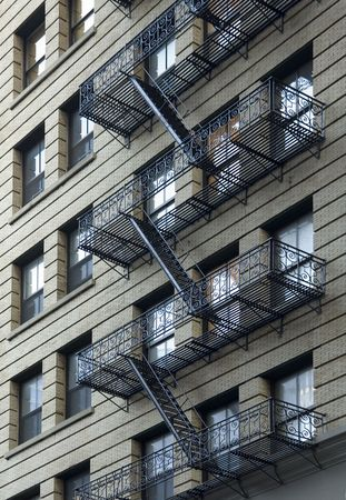 Fire escape on side of building