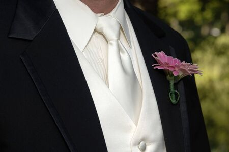 boutonniere: Wedding tux and boutonniere