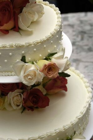 Wedding cake with flowers Stock Photo - 941510