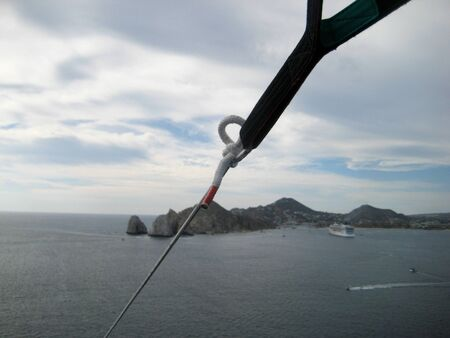 lucas: While parasailing over Cabo San Lucas in Mexico this photo shows the knot keeping the parasail and passengers attached to the boat