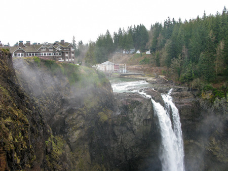 runoff: Shot of Snoqualmie Falls in Washington State with a good spring run-off Stock Photo