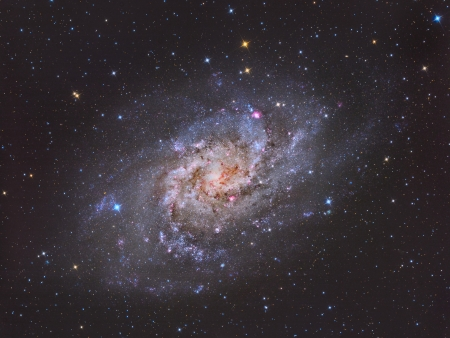clusters: spiral galaxy approximately 3 million light years from Earth in the constellation Triangulum