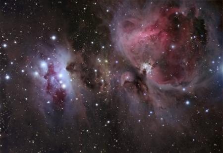 constellations: N�buleuse M42 Orion Banque d'images